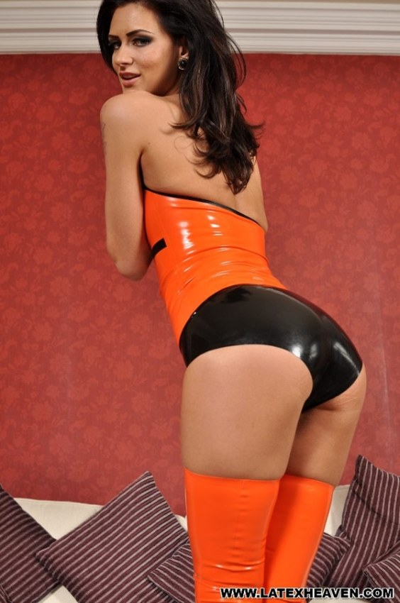 girl tight latex panty 23 Girls wearing tight and shiny latex panty