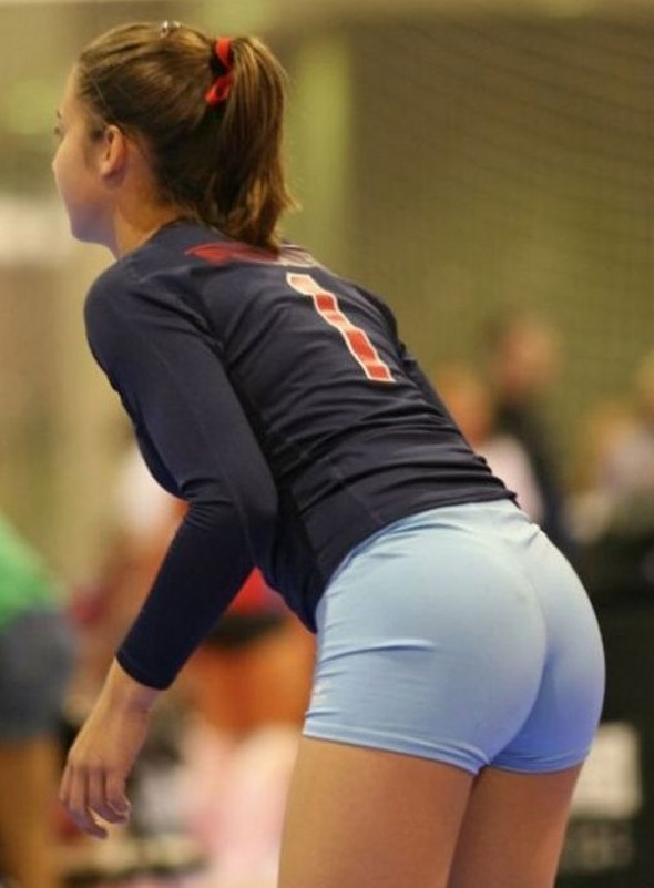 volleyball tight shorts 27 Girls playing volleyball in tight shorts