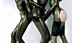 Kinky babes in shiny latex clothes