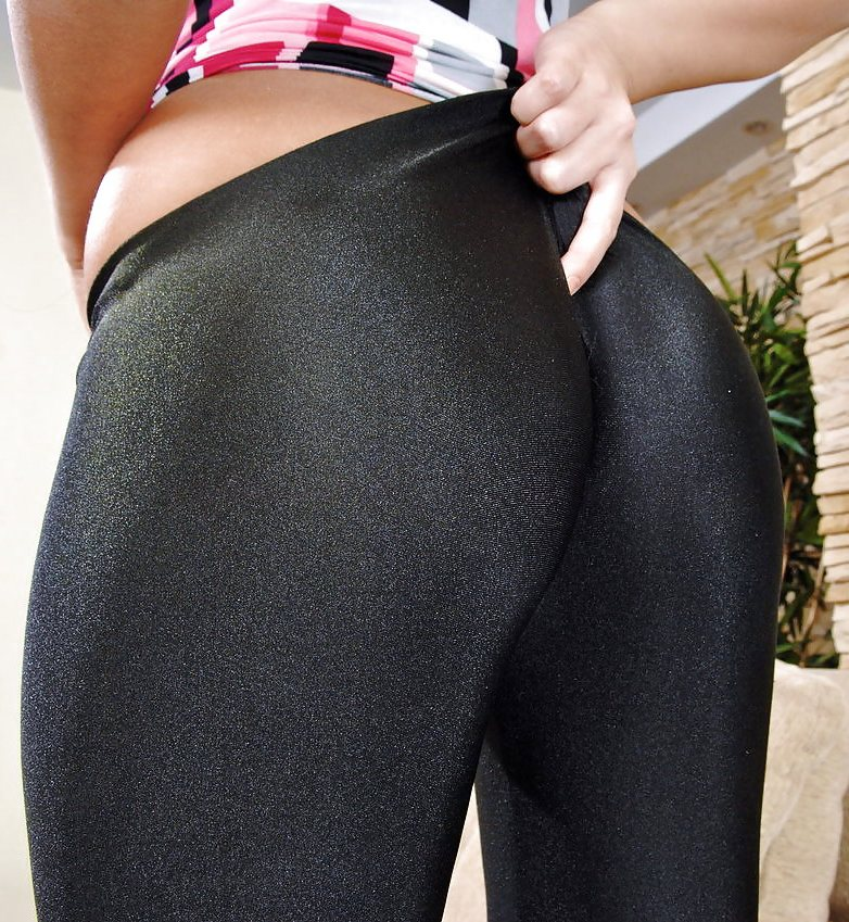 Remarkable, the girls wearing tight shiny panties think, that