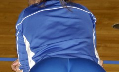 girls-playing-volleyball-in-tight-shorts