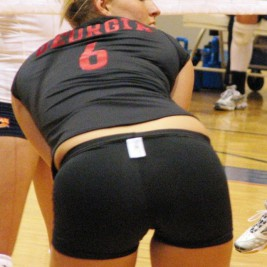 volleyball tight shorts 22 267x267 Girls playing volleyball in tight shorts