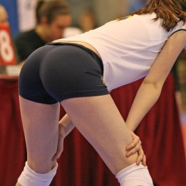 volleyball tight shorts 25 267x267 Girls playing volleyball in tight shorts
