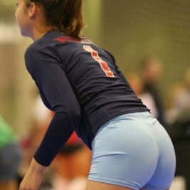 volleyball tight shorts 27 267x267 Girls playing volleyball in tight shorts