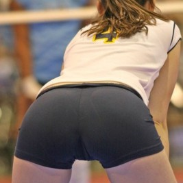 volleyball tight shorts 31 267x267 Girls playing volleyball in tight shorts