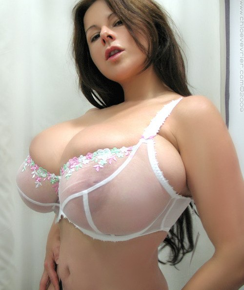 Huge natural tits bra