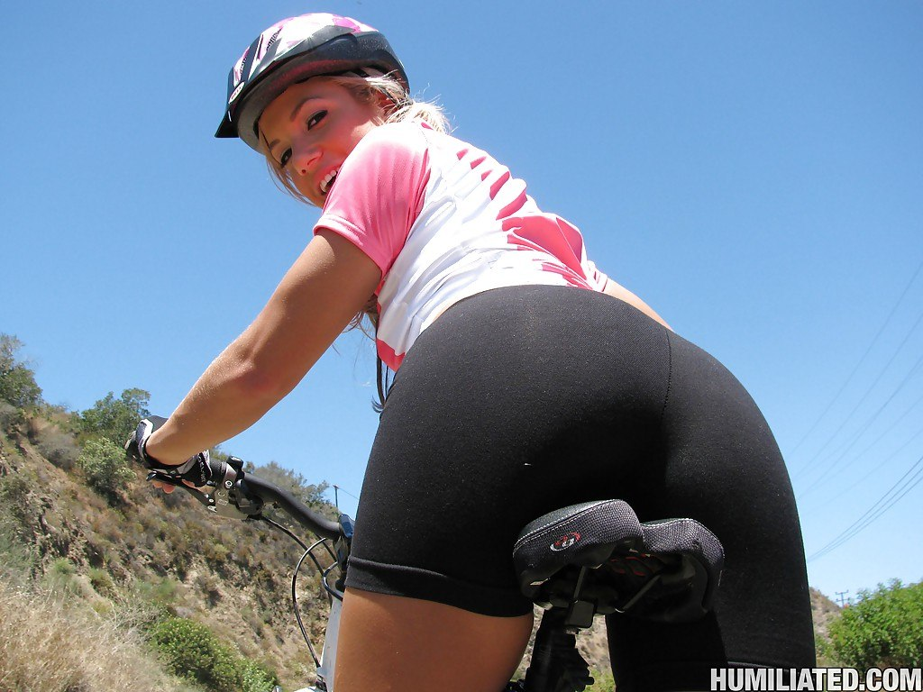 Girls On Bikes In Tight Clothes-5622
