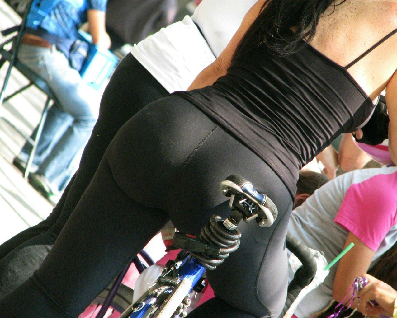 Girls On Bikes In Tight Clothes-5535