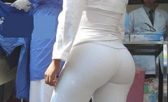 Goddesses in tight white pants