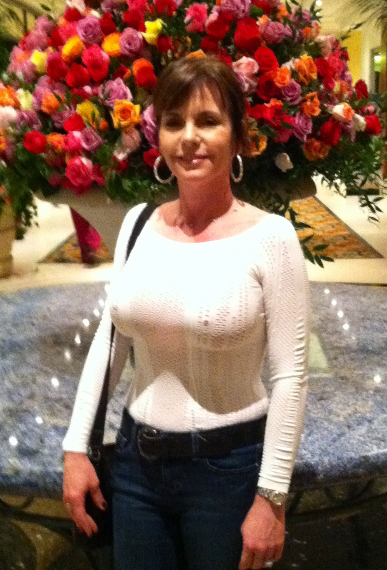 Milf in knitted mohair sweater