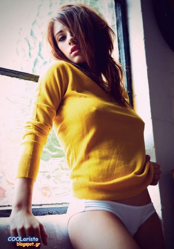nipples poking through sweater