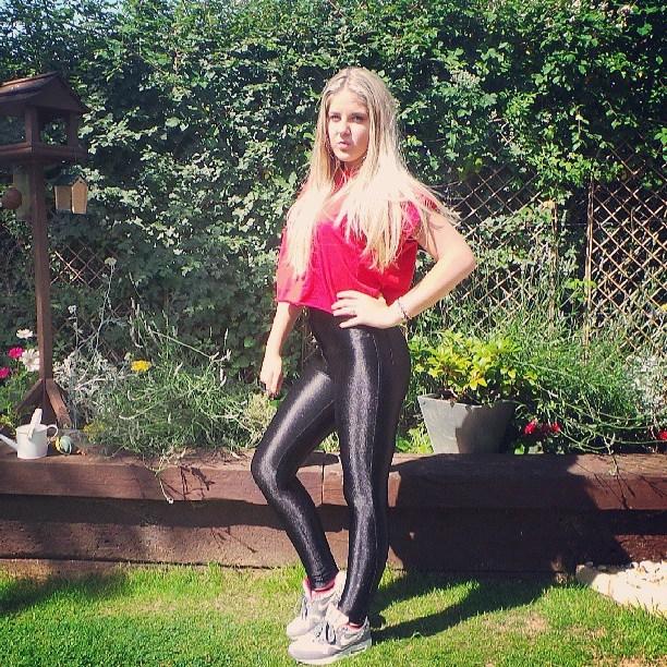 Hot Ladies Wearing Shiny Spandex Pants